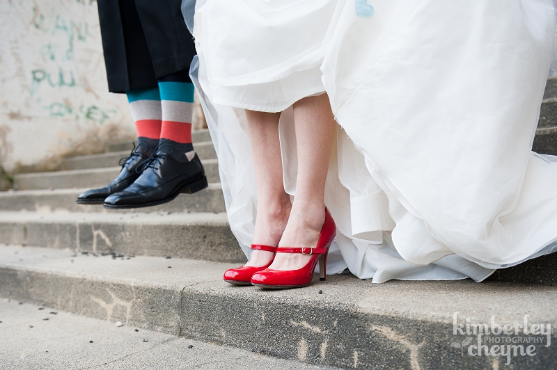 Jumping groom, shoe and sock wedding shots