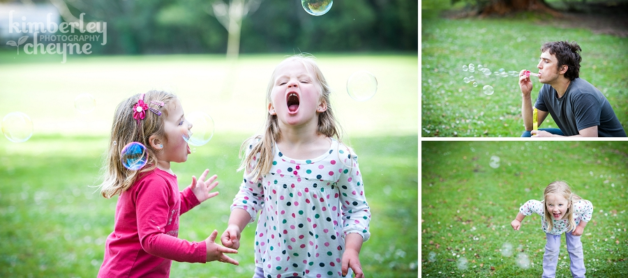 Bubbles in family photographs