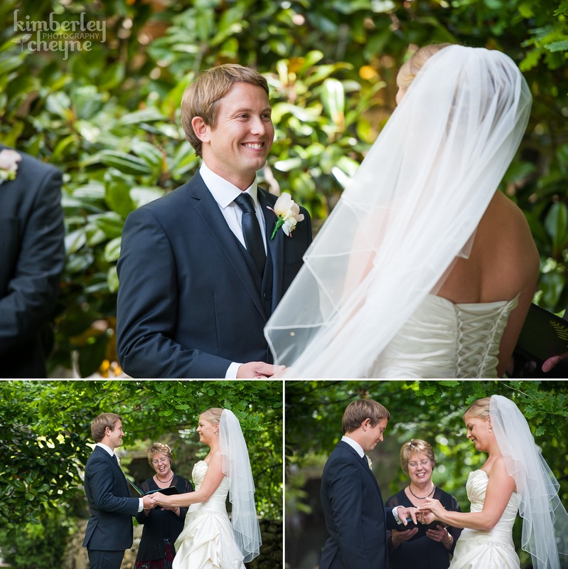 Dunedin Wedding, KImberley Cheyne Photography, Grandview Gardens Wedding Ceremony, Bride and Groom