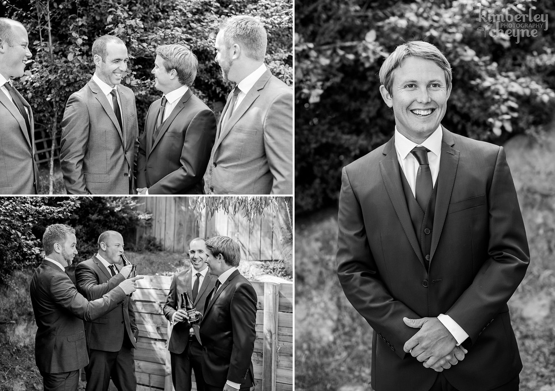 Kimberley Cheyne Wedding Photography, Groom, Groomsmen, Dunedin Wedding