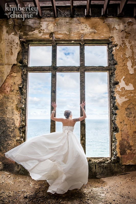 Dramatic wedding photographs, Dunedin, NZ